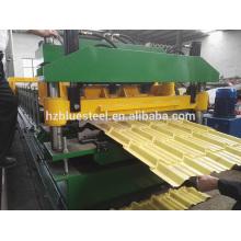 China Fabricante de color de acero esmaltado de azulejos de azulejos que forman la máquina, la hoja de azulejos de techos que hace la máquina