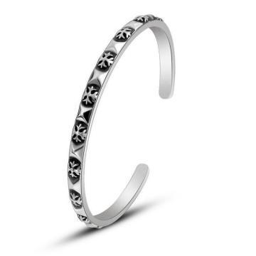 Acessórios de forma de aço inoxidável retros dos braceletes 316L do punho das mulheres