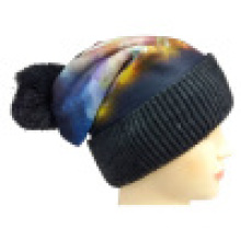 Bonnet tricoté avec impression sublimation NTD1679