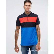 Blue Pull Bear Short Sleeve Contrast Stripe Polo Shirt