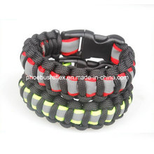 Survival Paracord Bracelet with Reflective Strip