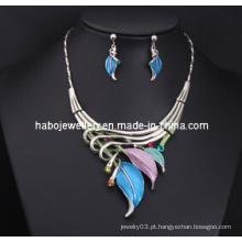 Conjunto de colar de folha de glória / moda jóias set (xjw13202)