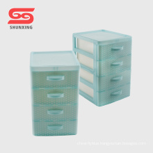 PP mini 4 layers cheap plastic drawers for household