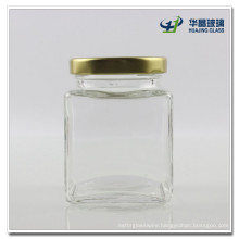 200ml Honey Glass Jar Candy Glass Jar with Gold Screw Lid