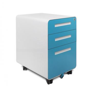 Mobiles Podest mit rundem Design und 3 Schubladen