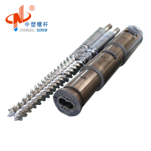 Zhoushan Factory Direct Bimetallic Screw Barrel Conical Twin For Recycled HDPE Film Granulate Extruder