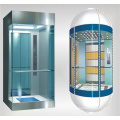 outdoor glass panoramic elevator wit machine roomless