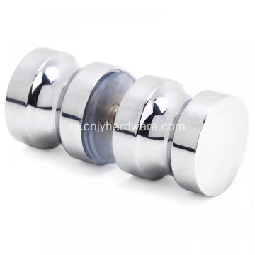 Chrome surface shower bathroom door handles