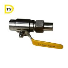 Tracheal hose PU tube 304 high pressure Quick-twist 2 way  Air source external buckle ball valve