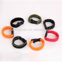 Rover Camel Outdoor Non-Reflective Rope Lanyard Lifesaving Emergency Survival Bracelet Work 9-cores Bracelet