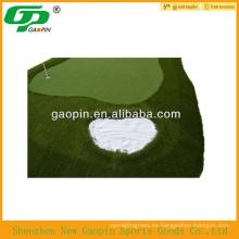 Mini campo de golf al aire libre verde, mini golf putting green