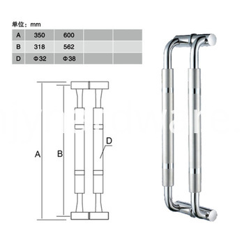 Factory Price Tempered Glass Shower Door Handle