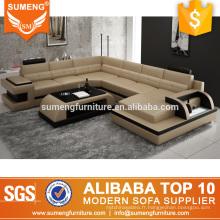 meubles de salle de séjour de fantaisie a mené des conceptions italiennes de sofa en forme de u