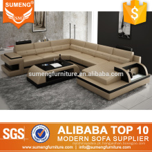 mobília extravagante da sala de visitas conduziu projetos ajustados do sofá italiano em forma de u