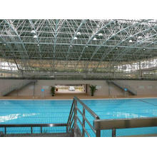 Telhado da piscina do quadro do espaço interno do projeto