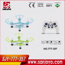 Jetez à voler mini drone 777-357 nano quadcopter avec la lumière