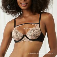 Hot sale lace and stain push up braxx women underwear xxx sexy bra picture xx sexy fancy push up bra underwear