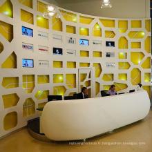Conception de réception de meubles modernes, réception de salon de beauté