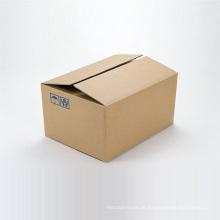 Caixas de papelão ondulado impressas em marrom