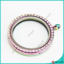 38мм круглые радуги стеклянные медальоны Кулон Neckalce