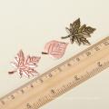Yiwu hot maple leaves shape metal crafts alibaba