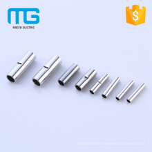 Cheap price copper low voltage wire Non-insulated butt connectors