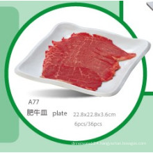 100% Melamine Dinnerware/Melamine Meat Platesquare Plate (WTA77)