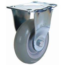 Medium Duty Fixed PU Caster for industrial Used (Gray)