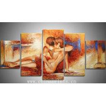 Multi Painéis Sexy Nude Pintura a óleo ARTS