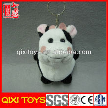 Chaveiro de vaca de brinquedo de pelúcia de brinquedo de vaca macia por atacado