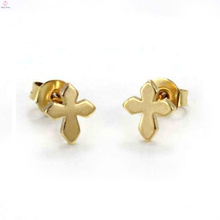 Old fashion model pierced men copper brass hanging cross stud earrings jewelry