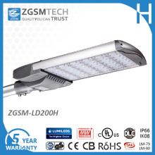 Straßenlaterne 200W LED für das Repalcing 400W VERSTECKTE Parkplatz-Beleuchtung
