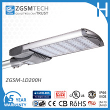 Réverbère de 200W LED pour l'éclairage de stationnement de stationnement de 400W HID
