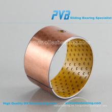 Buje de bronce de alta precisión, Rodamiento de bronce ZB455050BDA Rodado, Buje de brida de latón WF-WB702