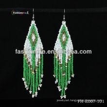 fashion bead braided earring