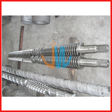 80/156 Conical twin screw and barrel for PVC panel