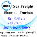 Internationale Service van Shantou naar Durban Express