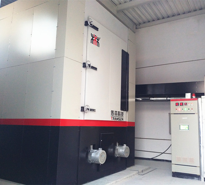 Solid heat storage boiler