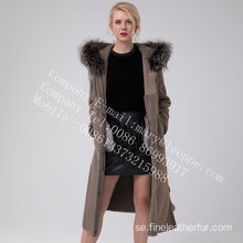 Hooded Long Merino Shearling Coat Winter