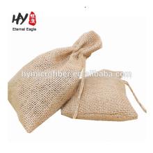 Bolsa de cordão de linho popular de moda de alta qualidade