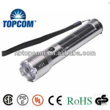 Lampe de poche solaire à alliage d'aluminium à haute puissance