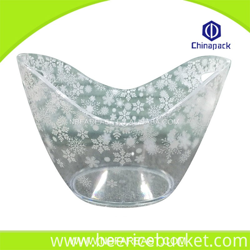 Unique printing Unique shaple beer ice bucket