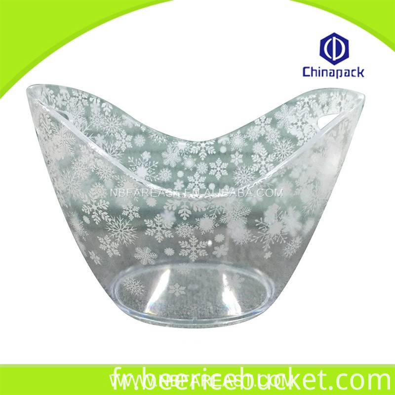 Promotion custom Unique design printing ice bucket
