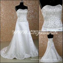 JJ3053 Beaded A line Sliver embroidery wedding dress