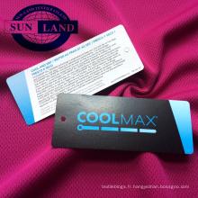 Tissu en maille polyester 100D pour les vêtements de sport absorbant l'humidité