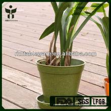 Biodegradable de bambú decorativo de fibra de flores ollas