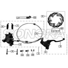 Front Disc Brake Assembly for ZONGSHEN RX3 SPARE PARTS TOP QUALITY