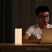 2018 nouvelle lampe de table de protection des yeux de conception pour lire et travailler la lampe de lecture latérale de lit menée flexible