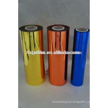 Película de animal doméstico metalizada de color