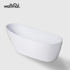 Classic White Acrylic Slipper Flat bottom Bathtub